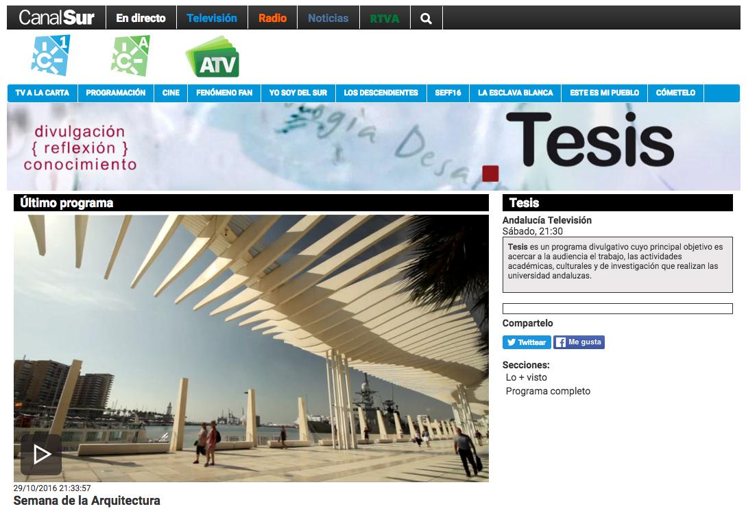 Marinauno arquitectos en tesis canal sur televisi n - Estudios de arquitectura en malaga ...